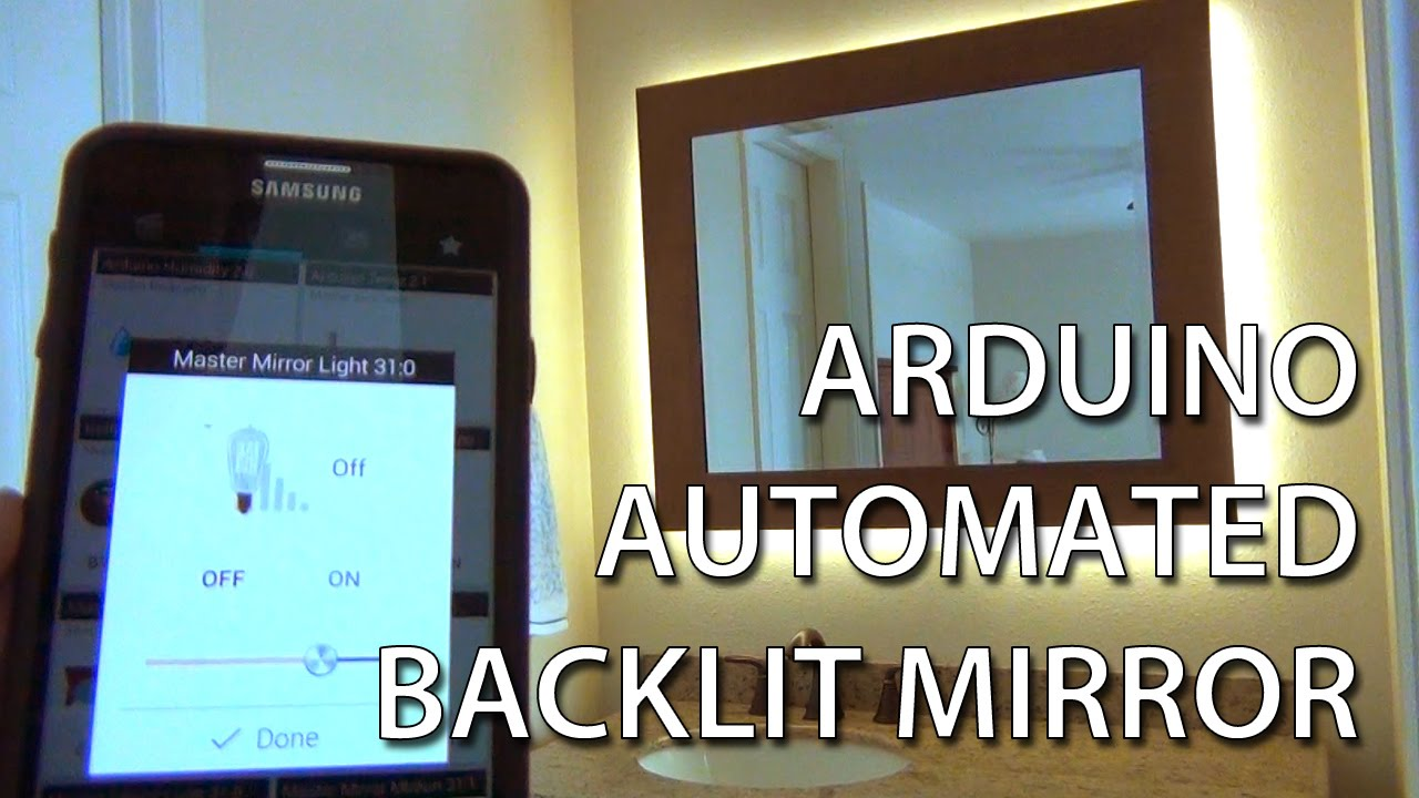 Arduino backlit dimmable led mirror with motion sensor