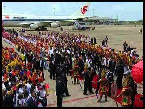 CHINA PRESIDENT ARRIVAL IN SRI LANKA