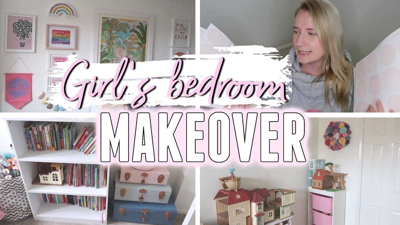 Girl S Bedroom Makeover Five Year Old Girl Bedroom Ideas Youtube