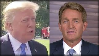 BREAKING: WITH ONE SENTENCE TRUMP JUST TOOK DOWN JEFF FLAKE SECONDS AGO… IT'S A BLOODBATH