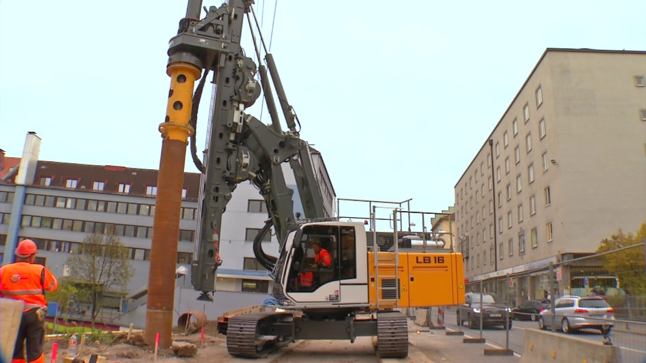 liebherr lb 16 180 drilling rig youtube. Black Bedroom Furniture Sets. Home Design Ideas