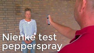 Nienke test pepperspray! | Het Klokhuis