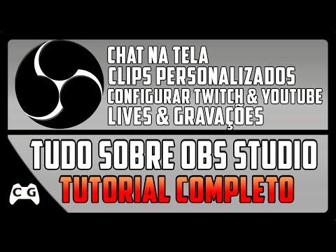 Como Configurar Open Broadcaster OBS Studio Para Fazer Lives no Youtube & Twitch (Tutorial Completo)