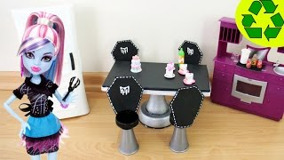 How To Make A Fangtastic Doll Dining Room Table & Chair Set- Doll Crafts