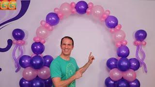 como hacer un arco de globos - decoracion con globos - gustavo gg - decoraciones para cumpleaños