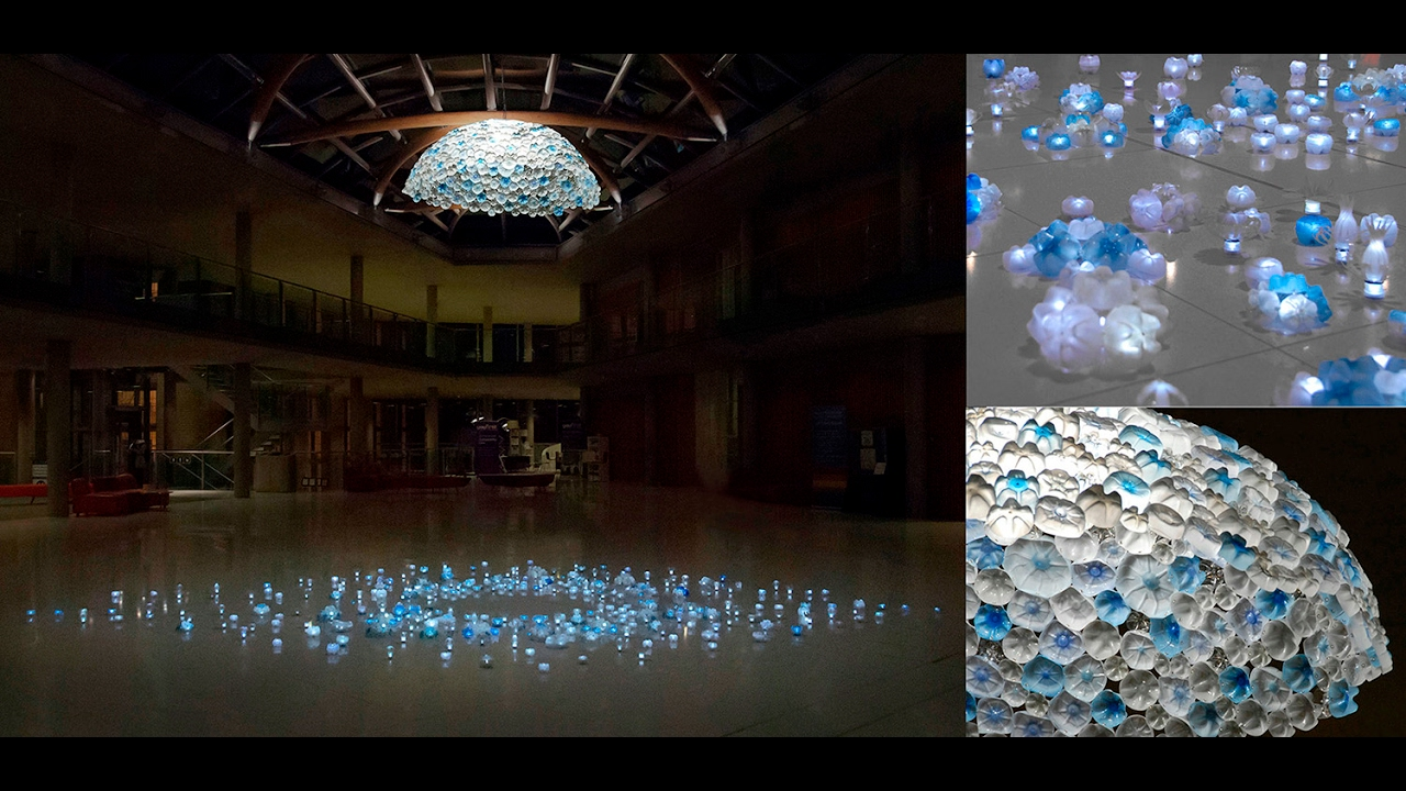 Plastic Bottle Light Installation Light Night Nottingham