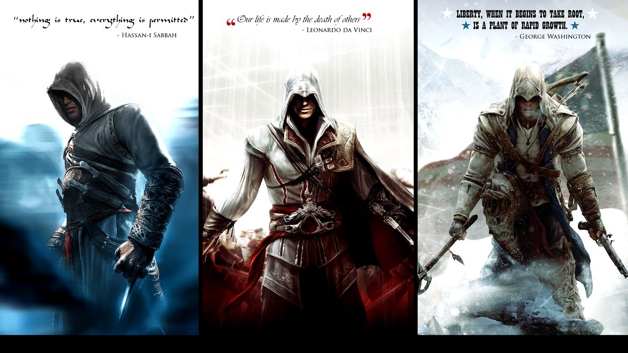Assassin S Creed 3 Legendary Assassins Altair Ibn La Ahad Ezio Auditore Da Firenze Connor Kenway Youtube