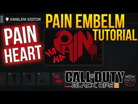 Call of Duty Black Ops 3 Pain Emblem Tutorial (BO3 Pain Heart Emblem) - OG & BEST EMBLEM!