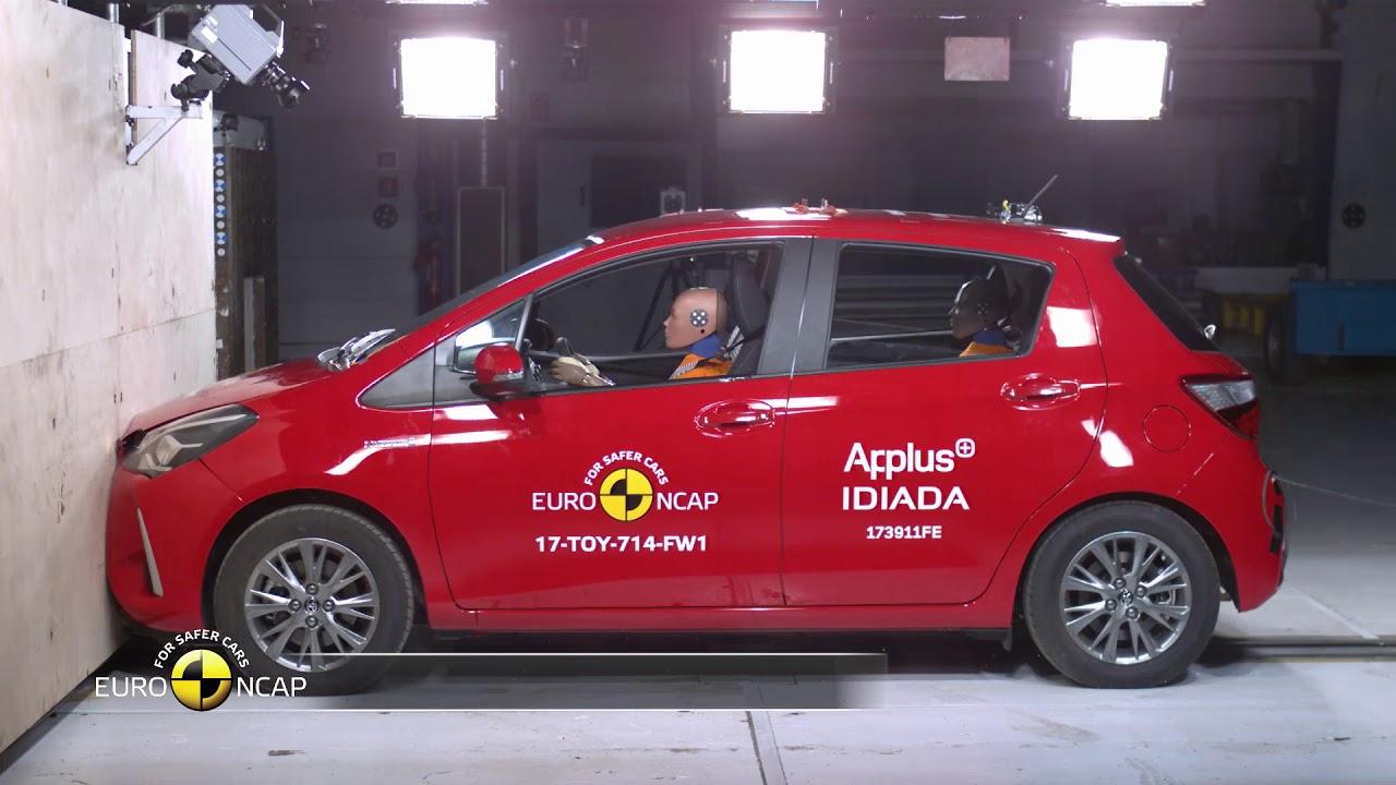 Euro Ncap Crash Test Of Toyota Yaris Youtube