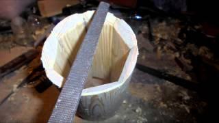 Как сделать кружку из дерева/How to make a cup of wood