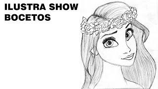Cómo dibujar a MOANA Tutorial ILUSTRA SHOW