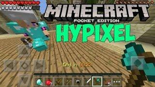 Лучший сервер в MCPE!!! Играю на сервере Hypixel в Minecraft PE 0.14.0 #2!!!Алмазники боятся меня?!