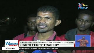 Likoni ferry tragedy: 2 women, child feared dead after vehicle plunged into ocean