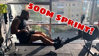 500 m Sprint Trial on Concept2 Rowing Machine