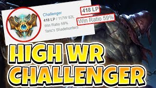CHALLENGER TRYNDAMERE 59% WINRATE! CLIMBING ON CHALLENGER ACCOUNT - League of Legends Full Gameplay