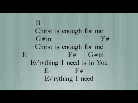 Christ is Enough [Key: B]- Lyrics & Chords