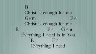 Christ is Enough [Key: B]- Lyrics & Chords