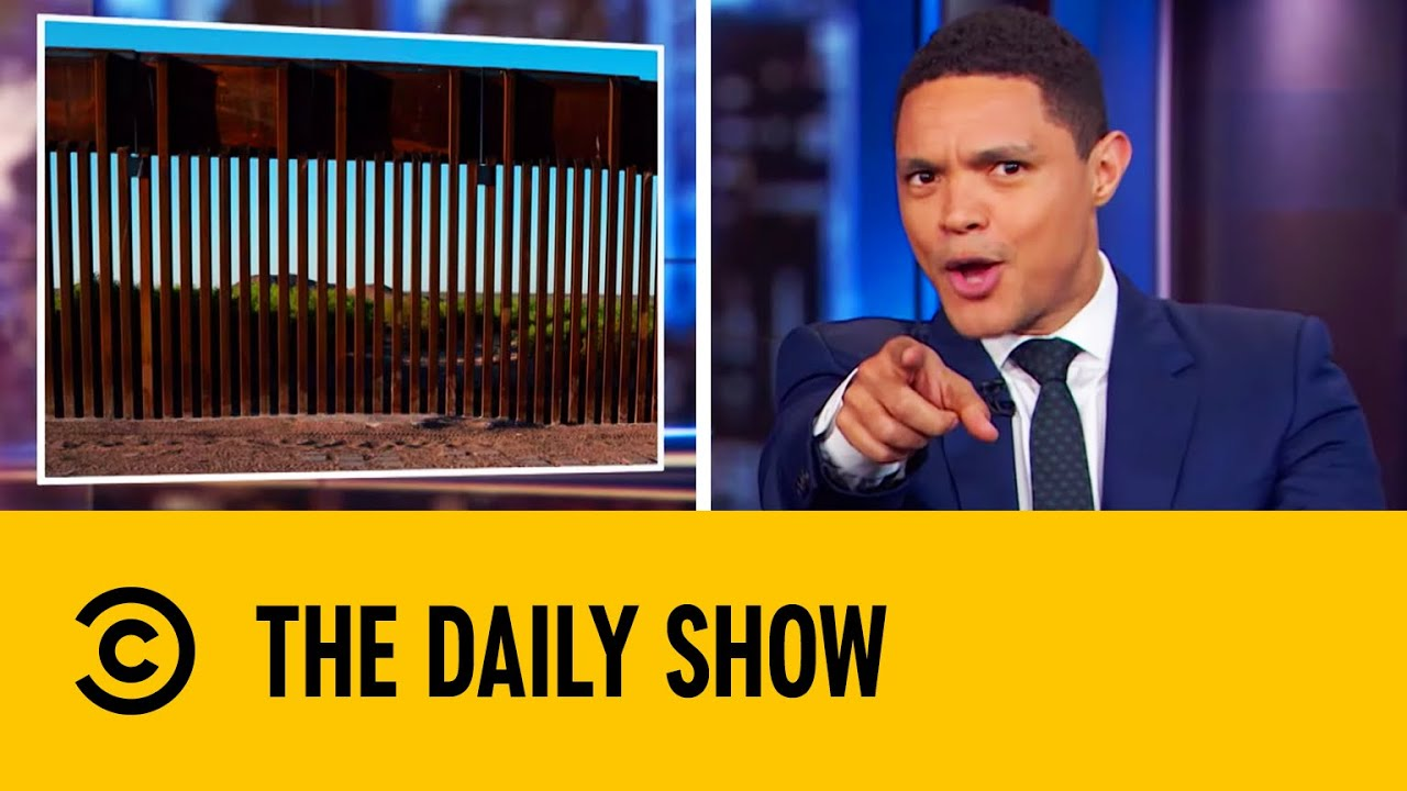 Sections Of Trump's Border Wall Blown Over In High Winds | The Daily Show With Trevor Noah