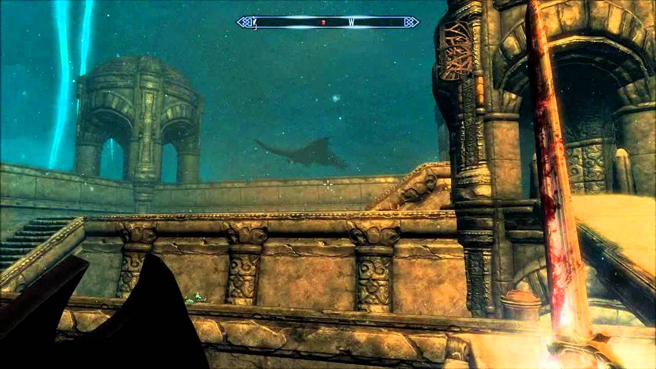 Blackreach Skyrim Dragon Scenes