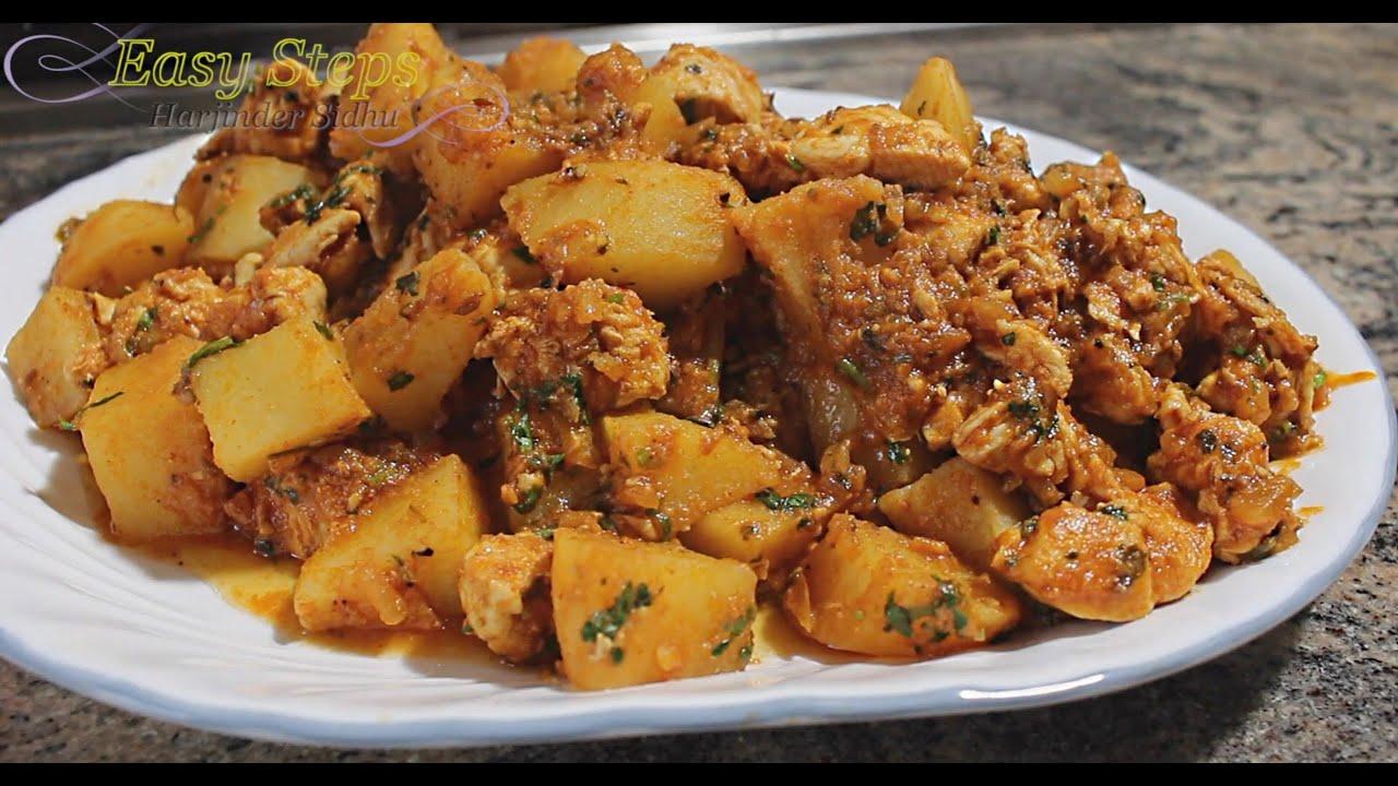 Chicken Potato Curry Potato Chicken Curry Recipe Made In Copper