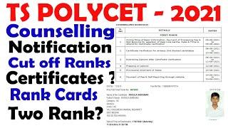 TS POLYCET 2021 Counselling Dates | TS POLYCET 2021 Results | TS POLYCET 2021 Ranks