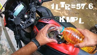 Yamaha R15v3 1Ltr Mileage Test Part 2 | Unexpected Result