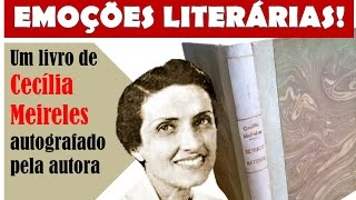 Obra de Cecília Meireles autografada!