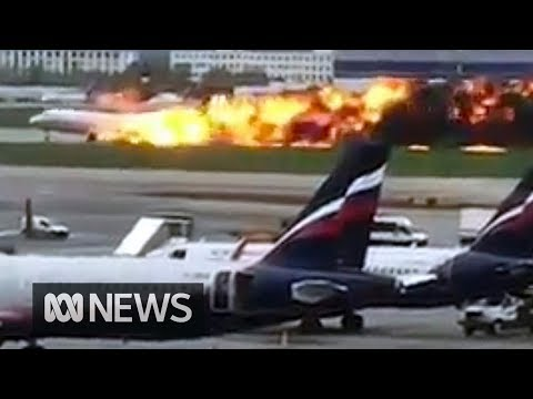 Russian plane lands in flames at Moscow airport, 41 confirmed dead | ABC News