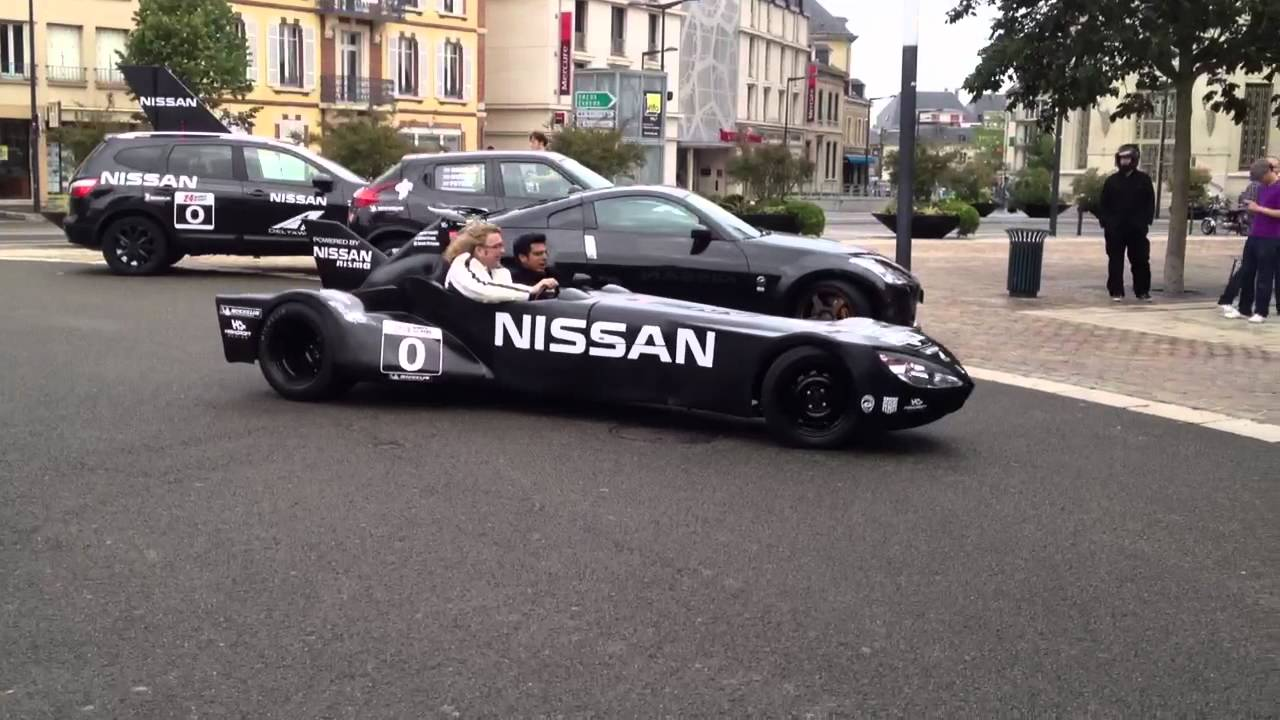 nissan delta wing replica at le mans youtube. Black Bedroom Furniture Sets. Home Design Ideas