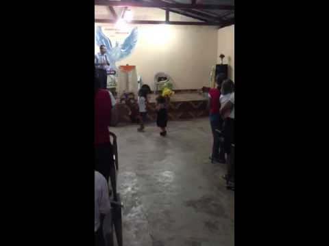 Kids dancing in church