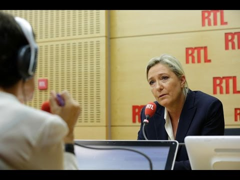 Marine Le Pen était l'invitée de RTL le 20 septembre