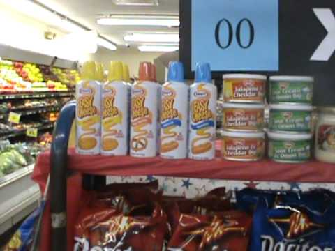 a Grocery store display supper bowl