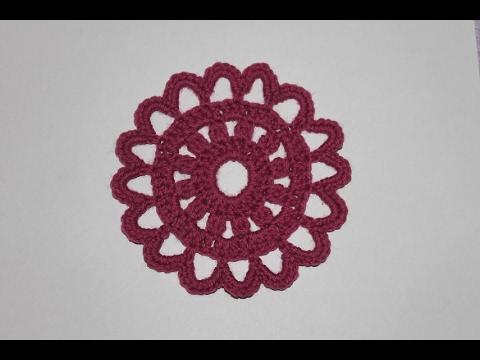 Круглый мотив крючком №1. Round Crochet Motif.