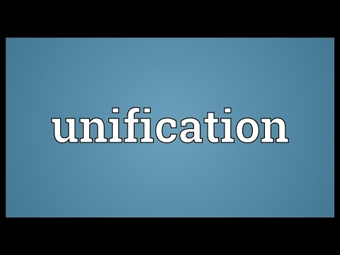 Unification Meaning