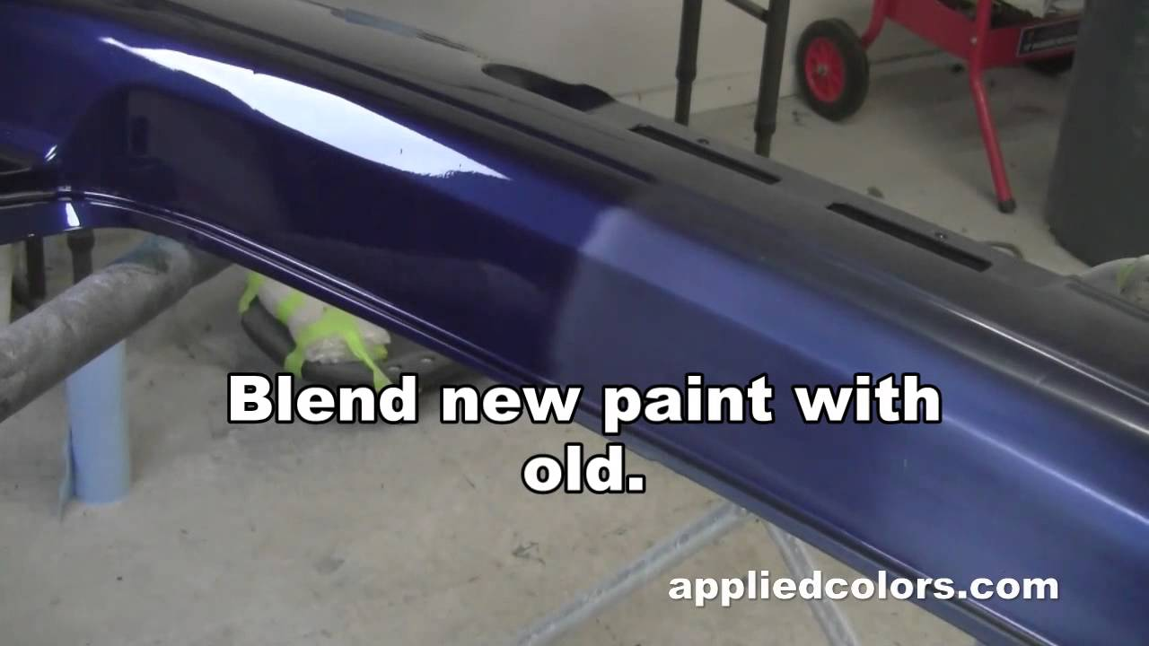 learn plastic bumper repair vid 5 5 apply clear coat. Black Bedroom Furniture Sets. Home Design Ideas