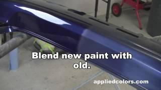 Learn Plastic Bumper Repair Vid 5/5:  Apply Clear Coat