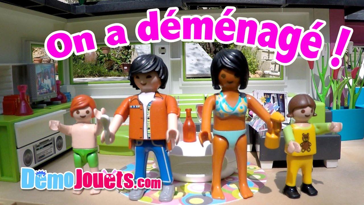 on demenage room tour de notre maison moderne playmobil demo jouets