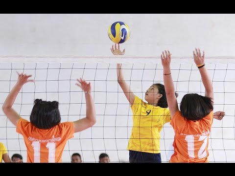 FULL MATCH | วอลเลย์บอลยุวชนแอร์เอเชีย 2559 | ชิงหญิงภาคใต้ | ท.1 เอ็งเสียงสามัคคี - สมานคุณวิทยาทาน