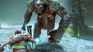 God of War 4 2018 Double Ogre Boss Fight , Fafnir's Hoard No Damage Walkthrough Part 23  PS4 PRO
