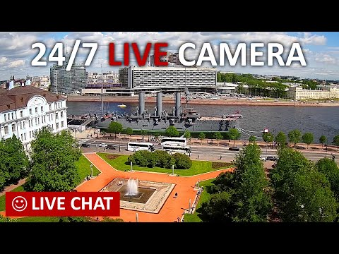 LIVE CAMERA Nevskiy avenue St. Petersburg Russia. Невский пр. Аничков дворец Санкт-Петербург