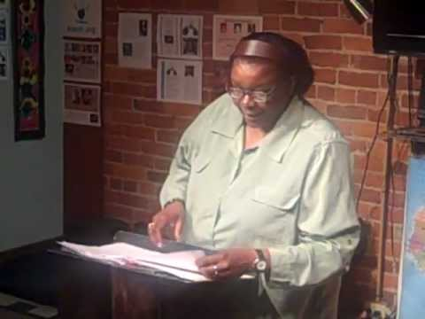 Susan Howard reading at the Acoustic SpokenWord Cafe