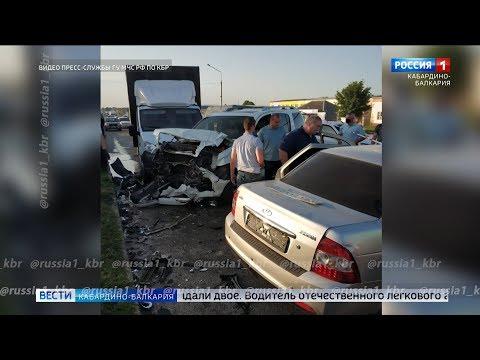 ДТП в Дыгулыбгее: при столкновении трех автомашин погиб человек. ВЕСТИ КБР