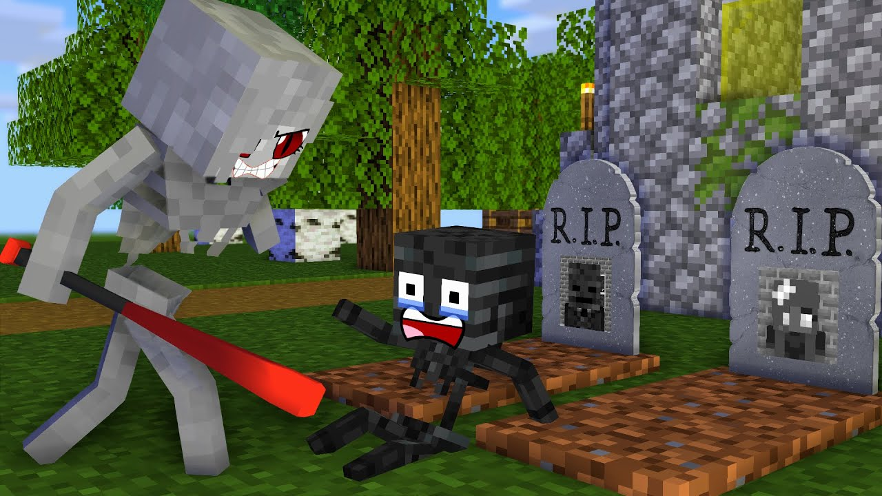 Monster School: Poor Baby Wither Skeleton (Rip Family) - Sad story - Minecraft Animation