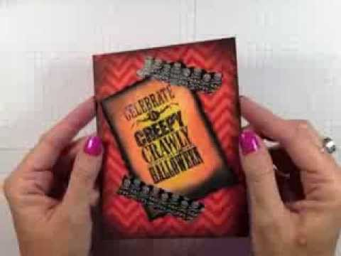 Simply Simple Flash Cards Creepy Crawly Halloween Card