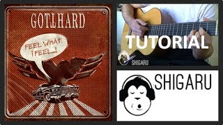 how to play -feel what i feel- by gotthard (guitar tutorial / lesson - beginners/ intermediate)