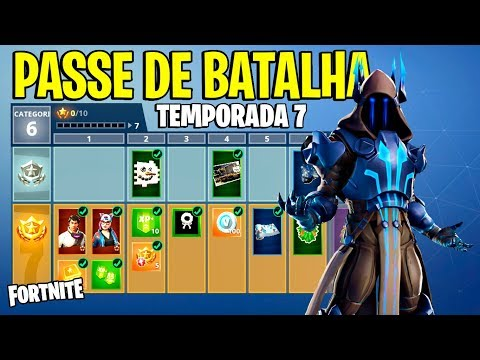 FORTNITE - PASSE DE BATALHA TEMPORADA 7!