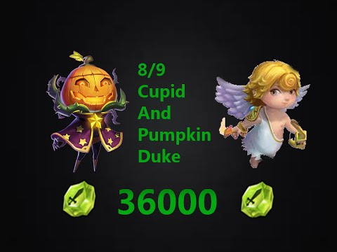 Castle Clash Taking Cupid And Pumpkin Duke To 8/9 With 36000 Shards