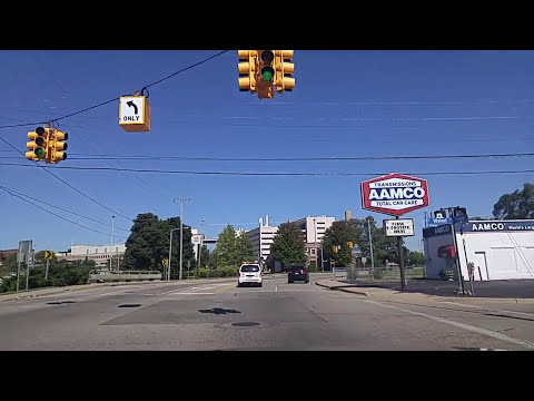 Driving by Downtown Kalamazoo,Michigan