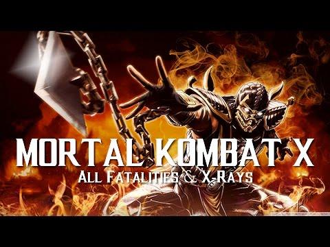 Mortal Kombat X/XL [All Fatalities & X Rays] (Cartoon Filter)