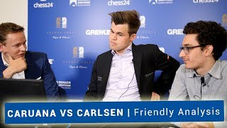 Fabiano Caruana and Magnus Carlsen | Friendly Analysis with Jan Gustafsson